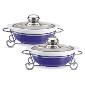 party perfect round casserole 2pcs set 1000 - Treo - Ceramic - Table Serve