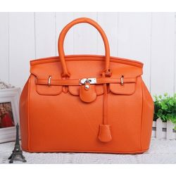 Fashion tote handbag, Orange