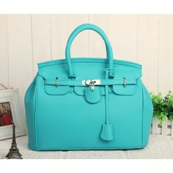 Fashion tote handbag, Light Blue