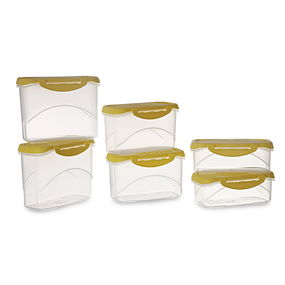 Delite Container Set of 6, 4500 ml,  yellow