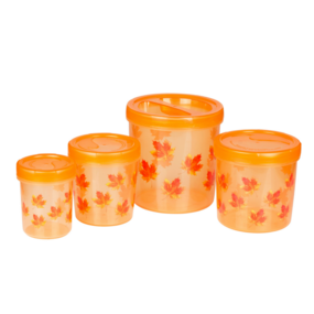 Zen Decor 700-702-704706(3330Ml) (4Pc Set), 3330 ml,  orange