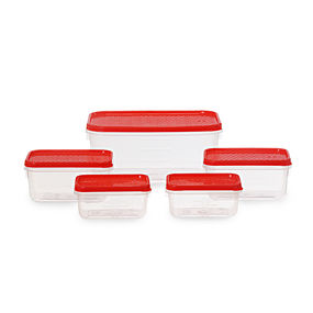 Polka Container Set, 5-Pieces, Green,  red