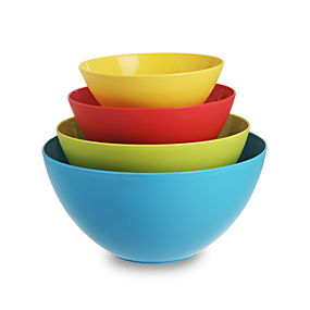 Mixing Bowl Set of 4, multi color