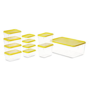 Polka Container Set of 11,  yellow