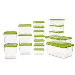Polka Container Set, 6.5 Litre, Set Of 17, Yellow,  green