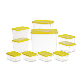 Polka Container Set, 10-Pieces, Red,  yellow