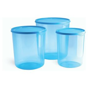 Dura Fresh Container Set, Set of 3, ( 5000 ml - 7500ml -10000ml), 22.5 ltr,  blue