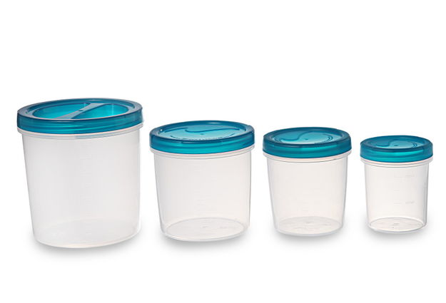 Elite Container Set Of 4, 3330 Ml,  turquoise