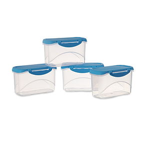 Delite Container Set Of 4, 750 Ml,  blue