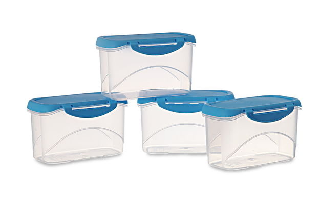 Delite Container Set Of 4, 750 Ml,  green