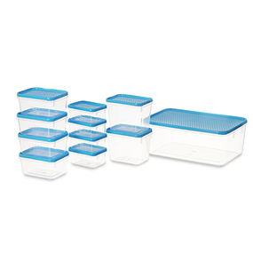 Polka Container Set, 11-Pieces, Yellow,  blue