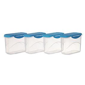 Delite Container Set, 1 Litre, Set Of 4,  blue
