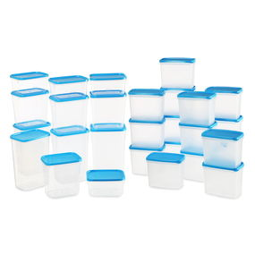 Polka Containers Set of 28,  blue
