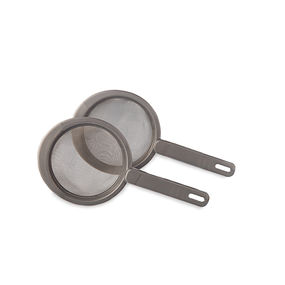 Strainer with Stainless Steel Mesh Set of 2,  silver
