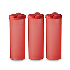 Freeze Bottle Set, 1 Litre, Set Of 3,  red