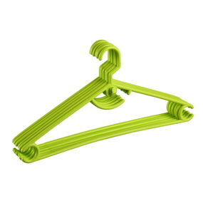 Hanger Set, Set Of 6,  green