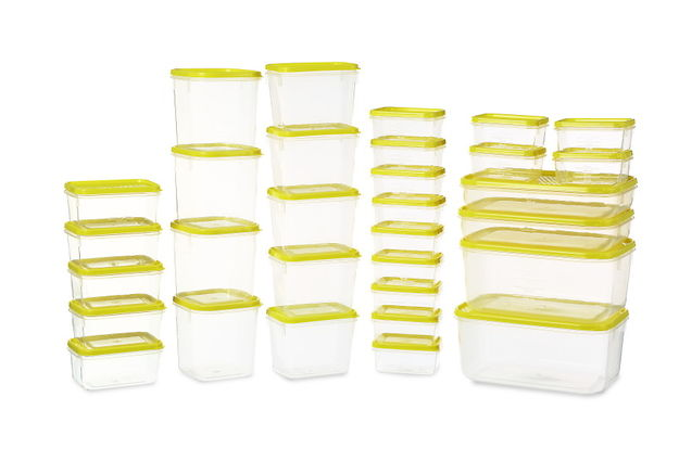 Polka Plastic Container Set, 31-Pieces, Green,  green