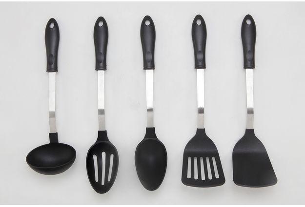 Kitchen Tools 5 Piece Set,  black
