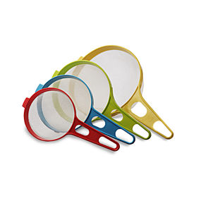 Soup Strainer Set Set Of 4, multi color