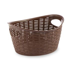 Cresta Oval Basket (9 Ltr) Brown, brown