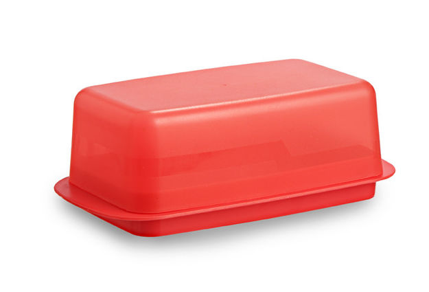 Perfect Butter Dish, Red,  yellow