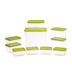 Polka Container Set, 10-Pieces, Red,  green