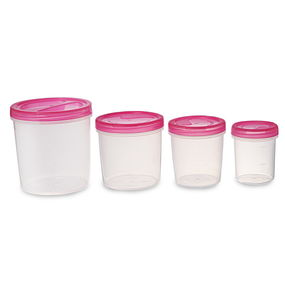 Elite Container Set Of 4, 3330 Ml,  pink
