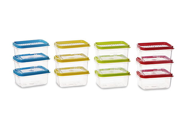 Polka Container Set, 125Ml, Set Of 12, multi color