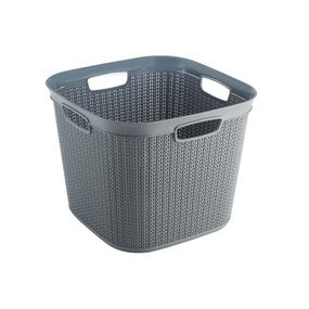Cresta Knit Square Basket, 41 ltr,  grey