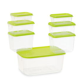 Polka Container Set, 7-Pieces, Blue,  green