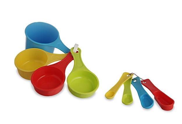 Measuring Cups And Recipe Spoon Set, Multicolour, multi color