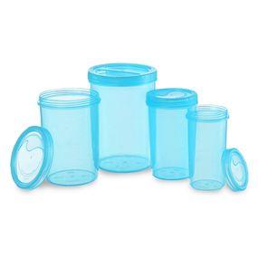 Iris Container 701-703-705-707 (4700Ml) (4Pc Set),  blue, 4700 ml