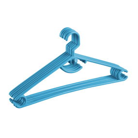 Hanger Set, Set Of 6,  blue
