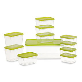 Polka Container Set, 11-Pieces, Yellow,  green