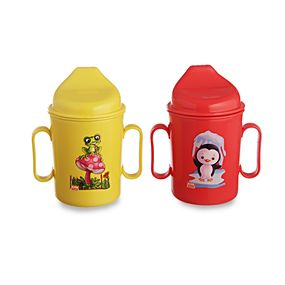 Sipper Set, Set of 2, 250ml, Red/Yellow, multi color
