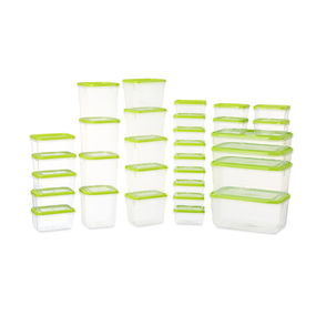 Polka Plastic Container Set, 31-Pieces,  green