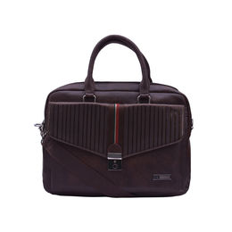 ESBEDA Solid Pattern Strip Flap Laptop Bag 001004262,  brown
