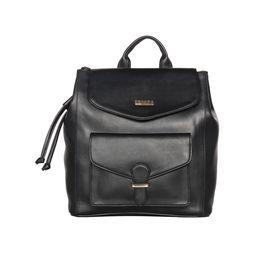 ESBEDA Magnet Closure Taslan Covertible Backpack For Women,  black