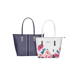 ESBEDA Printed Pattern Graphic Combo Handbag For Women,  dark blue