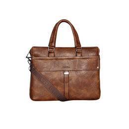 ESBEDA Solid pattern Grain Laptop Bag for Mens and women,  brown