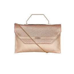 ESBEDA Small Glitter Envelope Armbag For Women,  rose gold
