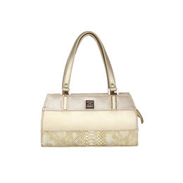 ESBEDA Solid Pattern Handbag For Women,  gold