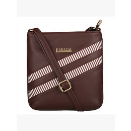 ESBEDA Medium Size Rayon Slingbag For Womens-A00100042-43,  brown