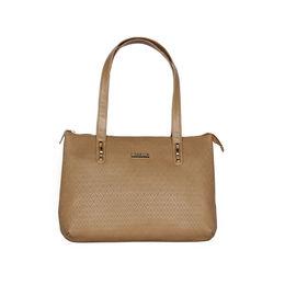 ESBEDA Embossed Textured Handbag For Women,  beige