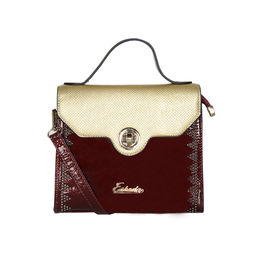 ESBEDA Solid Pattern Fontanelli Glitter handbag For Womens,  maroon