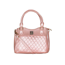 ESBEDA Quilted Pattern Handbag For Women,  pink