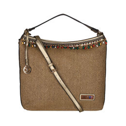 ESBEDA BIG Size Jute Tote Bag For Women,  gold