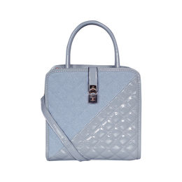 ESBEDA Solid Pattern Quilted Shiny Handbag For Women,  blue