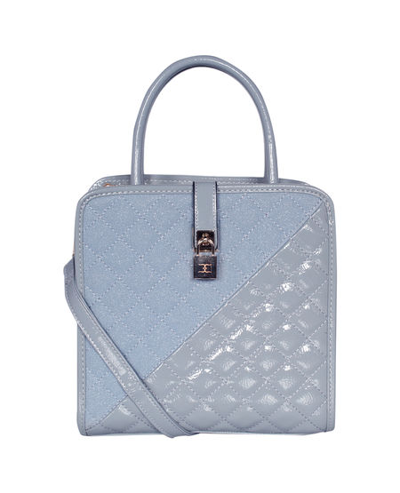 ESBEDA Solid Pattern Quilted Shiny Handbag For Women,  pink