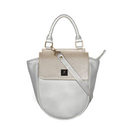ESBEDA Cinhetic saddle Handbag For Women,  silver